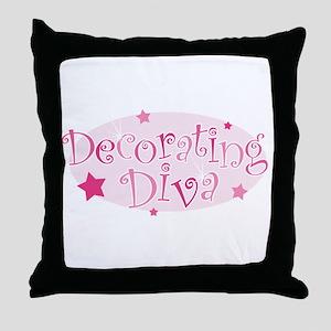 """""""Decorating Diva"""" [pink] Throw Pillow"""